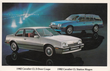 Chevrolet Cavalier 1982 _Postcard