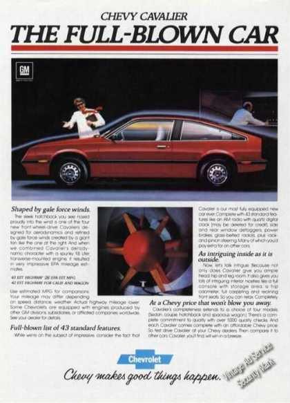 Chevrolet Cavalier 1982 ad 5