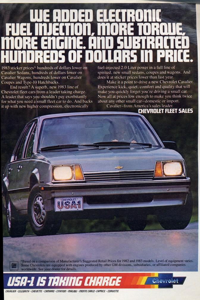 Chevrolet cavalier 1983_silver