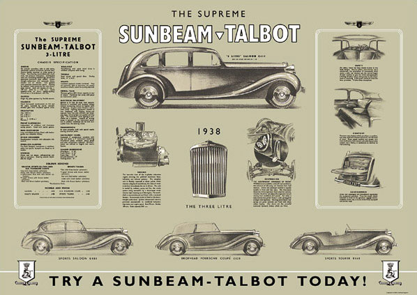 1938 sunbeam_talbot_poster