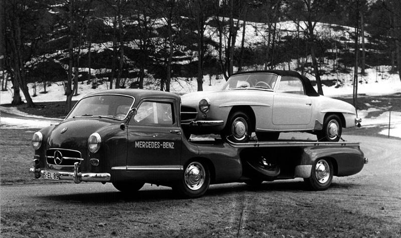Curbside classic design history mercedes benz 190sl w121 for Mercedes benz roadside assist