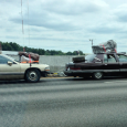 "CC Commenter haroldinpatrick shot this incredible lash-up of two Buick Roadmasters ""sweaving"" on I-85, and left it in the comments at today's Cadillac Fleetwood post. These deserve their own post, […]"