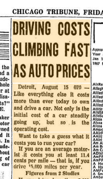 Driving costs 1968