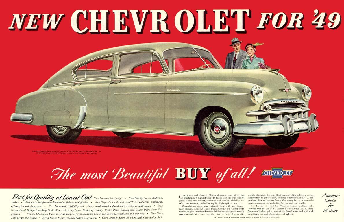 Cohort Classic 1949 Chevrolet Fleetline Special Two Door