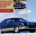 First article from R&T's 1987 July issue is this road test of the LeBaron.