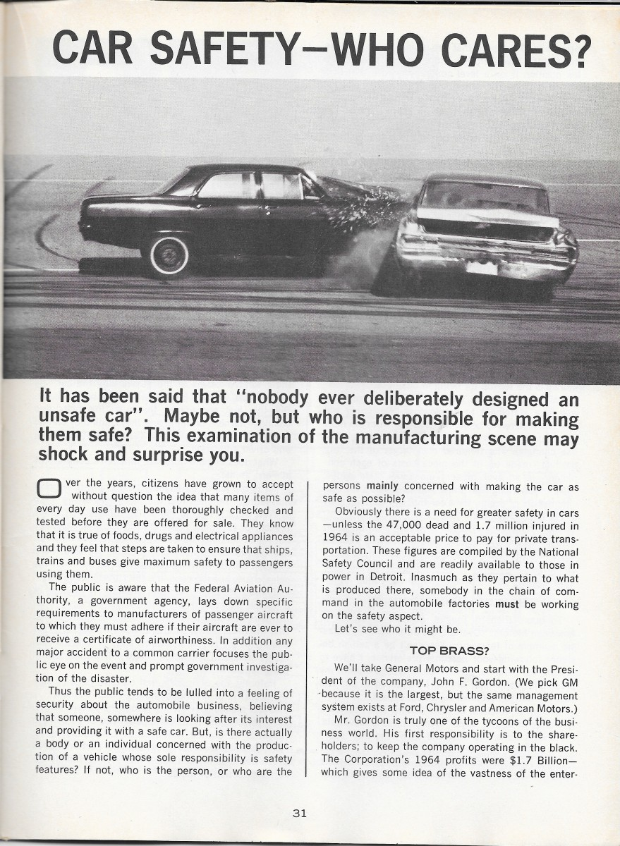 Vintage Article: March 1966 Road Test Magazine – Car ...