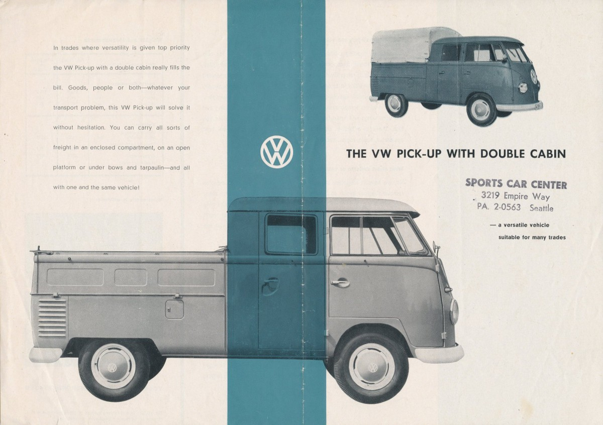 VW 1959 T2 double cab Pu