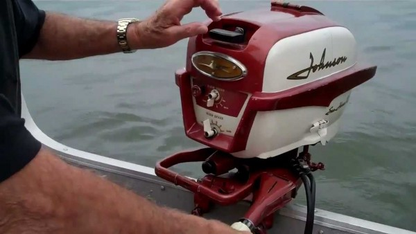 1958 Johnson Outboard (Colors are year specific)