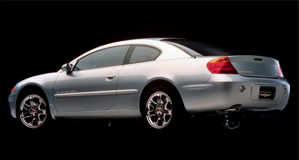 2001 Sebring coupe rear 3:4