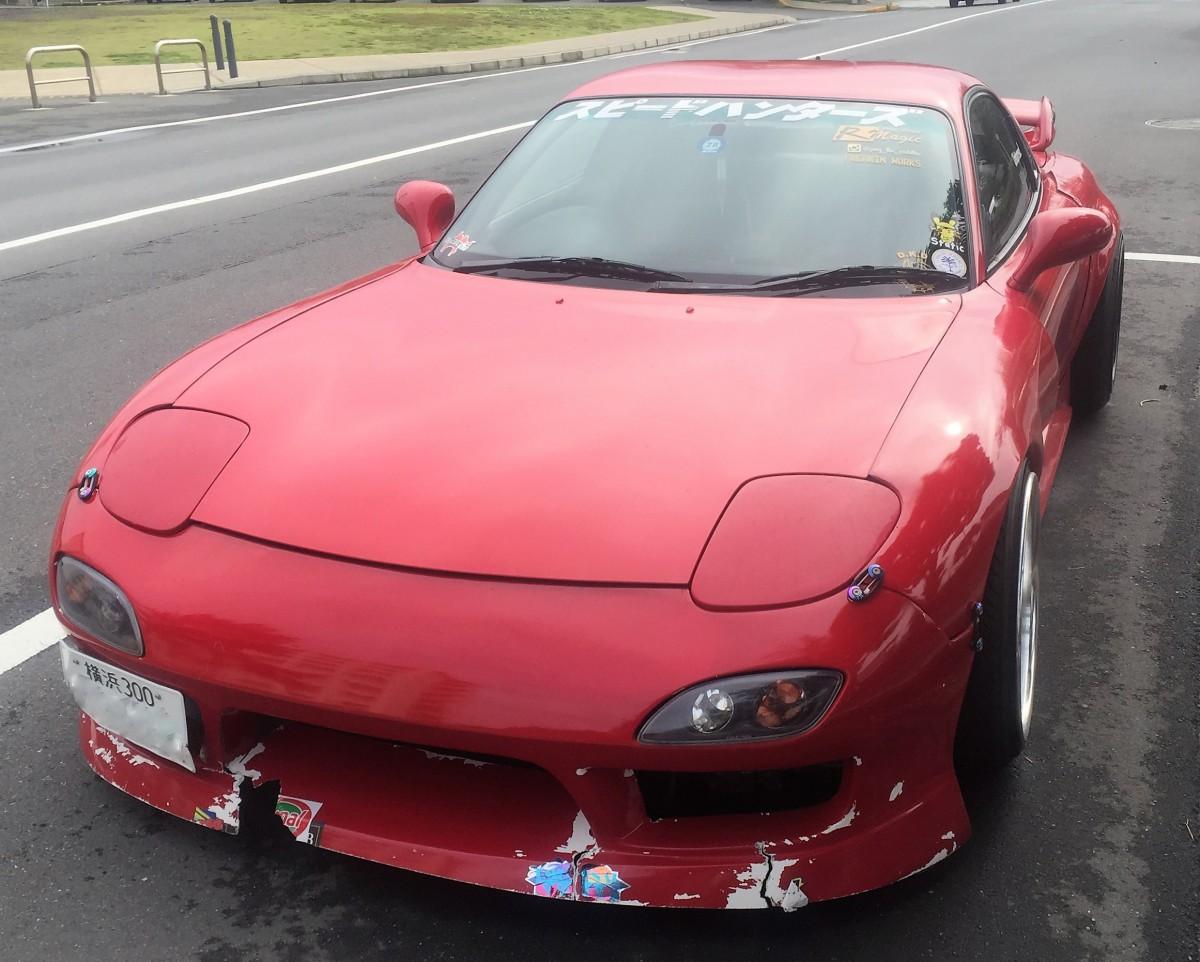 Japanese Car Brands >> Curbside Cartoon Character: Mazda RX-7 FD Drift Racer
