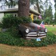 """The focus is a bit soft, as I only slowed down to shoot this '49 Ford front clip lawn decoration. The flags were commemorating something to do with the """"419"""" […]"""